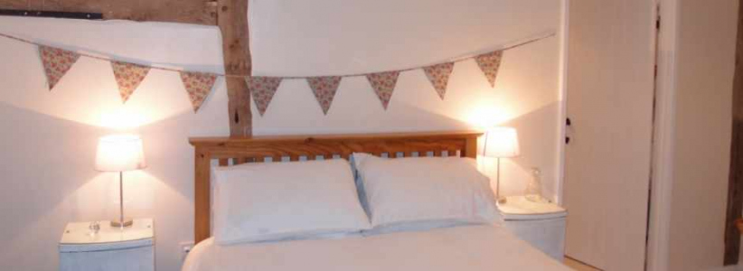 Double Bedroom at Self Catering Family Farm Cottage Shropshire
