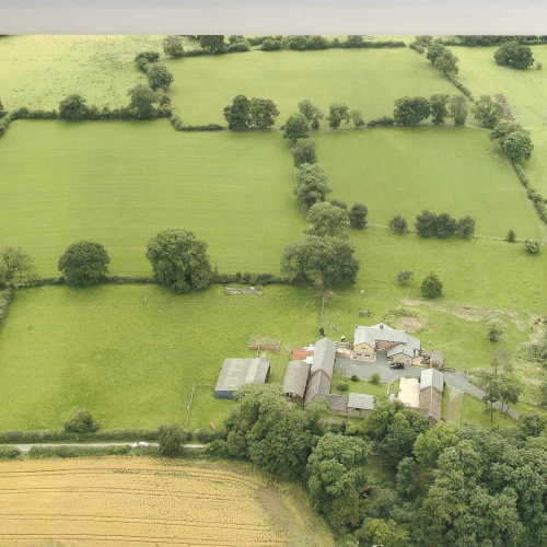 Aerial Views of Upper Heath Farm, Shropshire