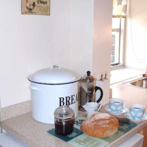 Afternoon Tea at Self Catering Family Farm Cottage at Heath Farm in Craven Arms Shropshire
