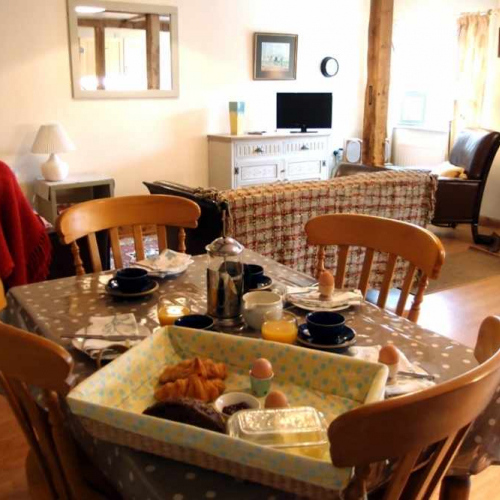 Dining Room inside the cottage at Heath Farm in Craven Arms Shropshire