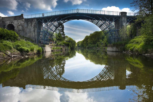 Historic Ironbridge World Heritage Site, the Birthplace of Engineering in Telford Shropshire