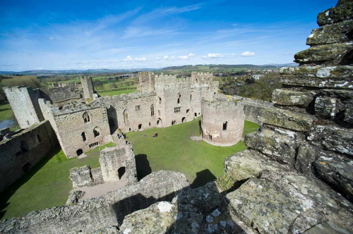 Historic Ludlow Castle in South Shropshire
