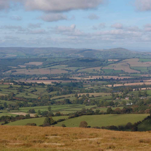 View from Atop the Clee Hill, Shropshire