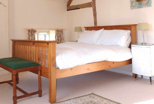 Master Bedroom at Self Catering Family Farm Cottage Shropshire